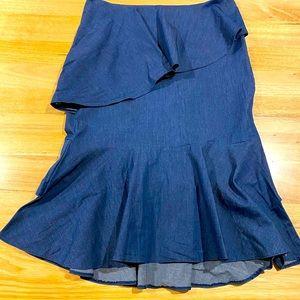 Kachel midi denim flutter skirt size 12